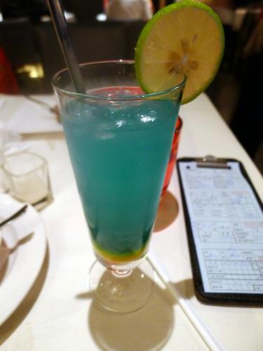 藍色冰飲@西堤牛排
