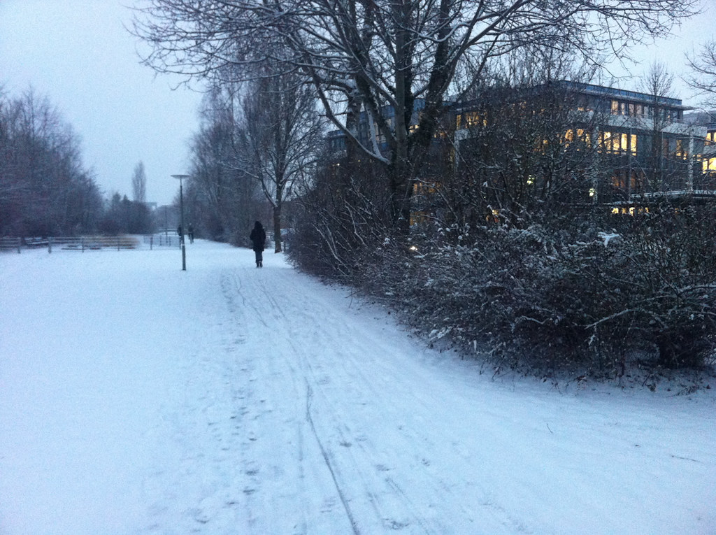 Schnee in Ismaning