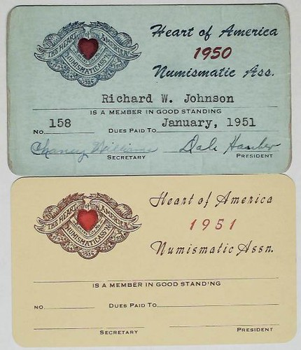 Heart of American Numismatic Association cards