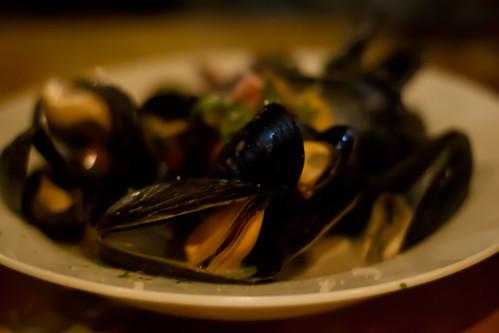 PEI Mussels at Bella Sera Urban Trattoria