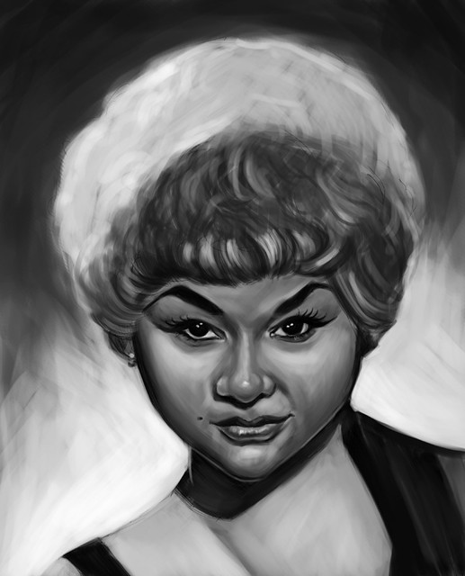 Etta James sketch
