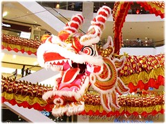 Gigantic dragon at the atrium of Pavilion KL, to usher in the Lunar New Year 2012 #2/4