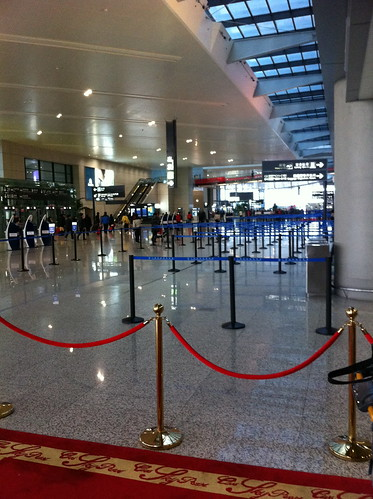 Shangahai Hongqiao airlines without the usual crowds