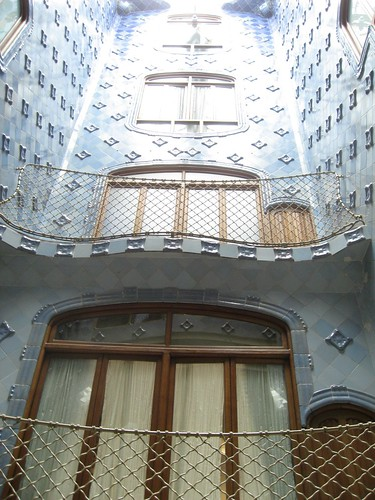 The internal courtyard of Casa Batlló