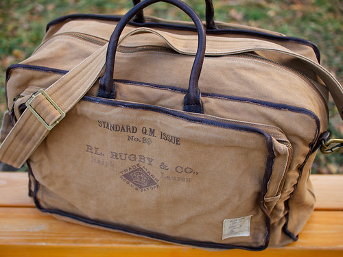 Rugby / Canvas & Leather Weekender Bag