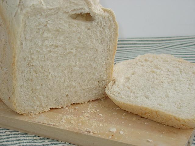 Pan básico en panificadora