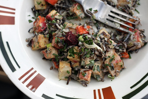 Wild Rice Salad with Roasted Vegetables and Lemon-Tahini Dressing ...