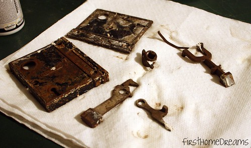 cleaning antique hardware