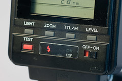 Control panel on the Minolta 4000AF flash unit