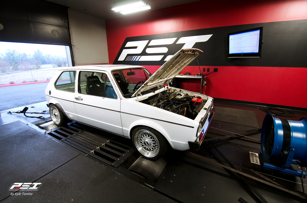 Volkswagen Rabbit on the dyno at PSI