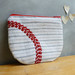 Red curve zip pouch for JumpUp by Cat Hayward