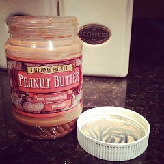 My kind of post-dinner dessert--creamy PB!