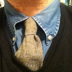 This is the necktie I wore today. Knot: Simple four-in-hand.