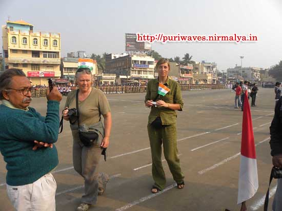 Foreigners celebrated 63rd Indian republic day