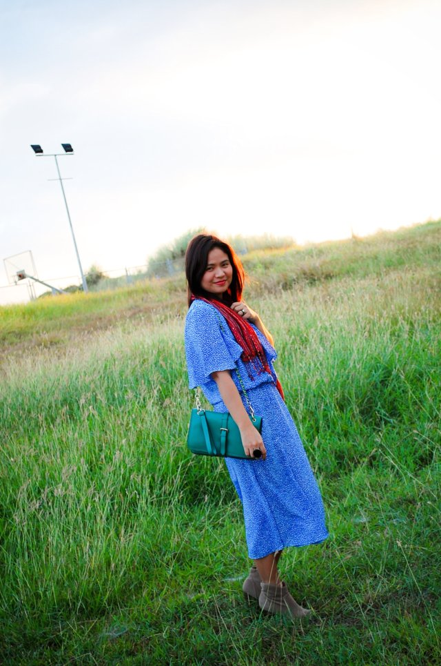 Blue Red Green and Taupe, denise katipunera, Pinay fashion blogger, mommy fashion, fashion on a budget