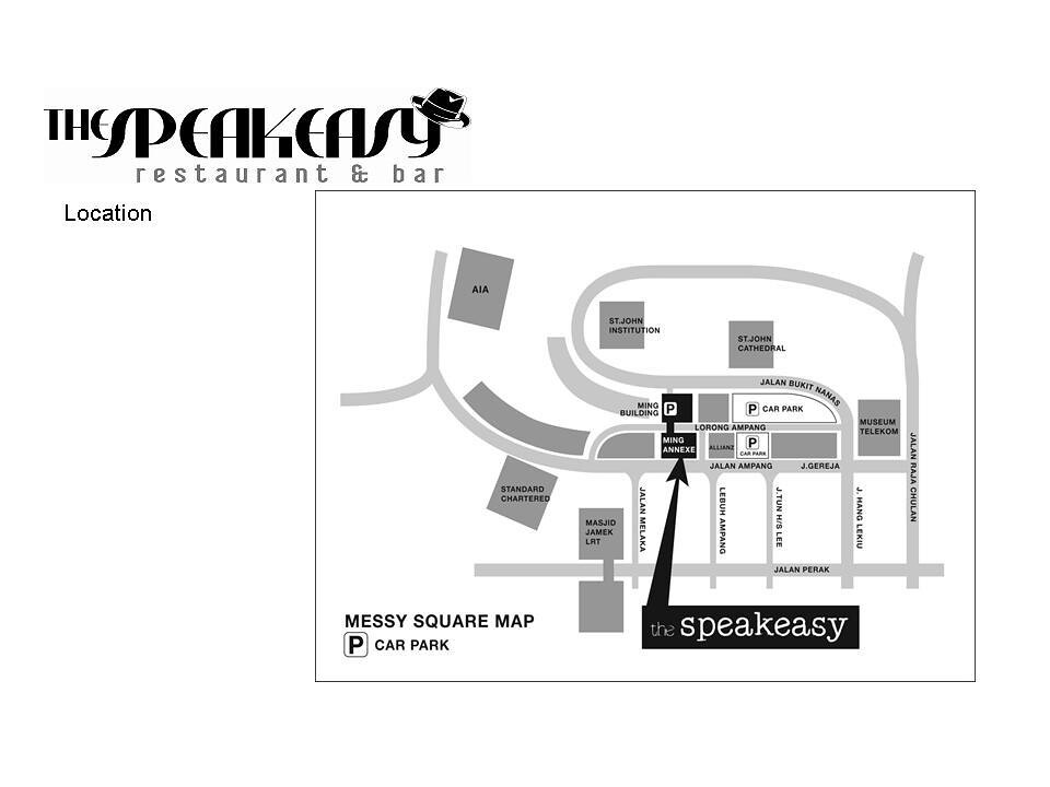 Map to Speakeasy