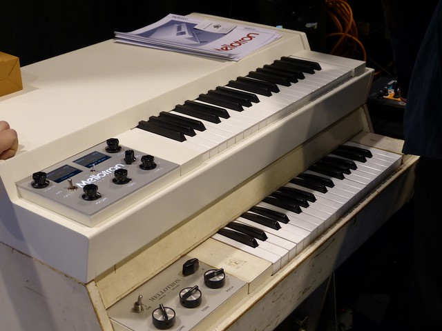 Digital Mellotron above real one.