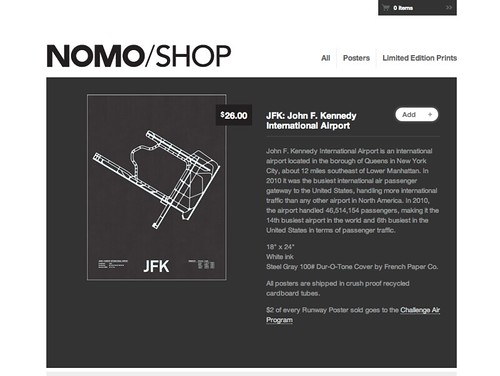 Screenshot of Nomo Design Shop