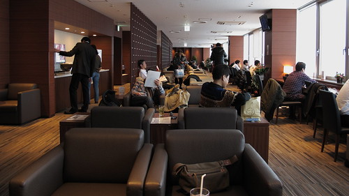 Airport lounge for the gold card members.