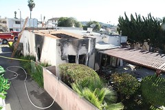 LAFD Finds Woman Dead in House Fire