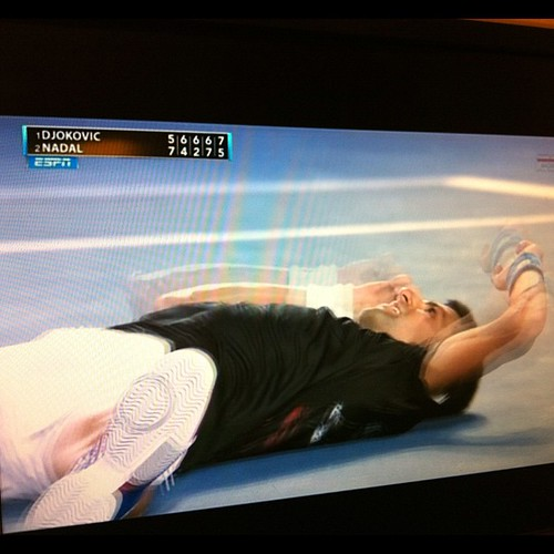 And it goes to #Djokovic. Over 5 hours. #tennis #australianopen #australia #espn