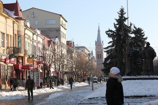 La calle principal de Mukachevo