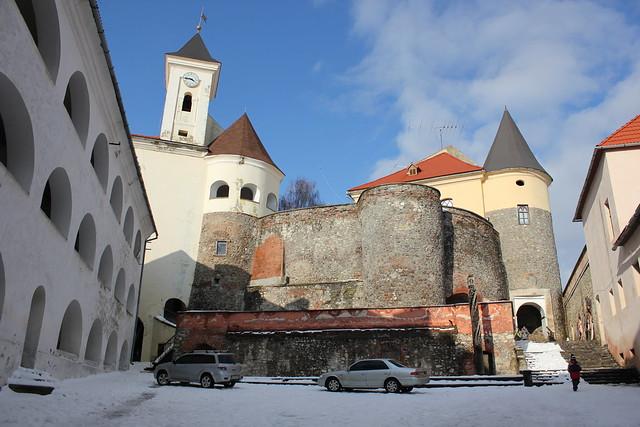 El castillo Palanok de Mukachevo