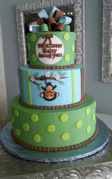 monkey baby shower cake flickr photo sharing