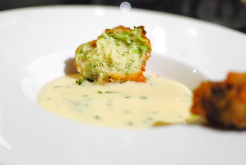 potato puree, cheddar, broccoli cheddar fritter2