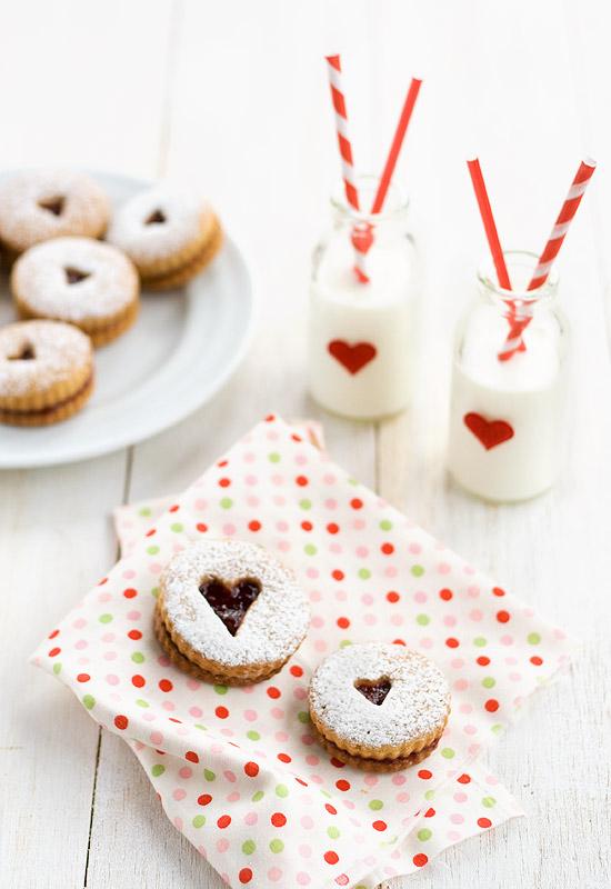 Regalos para San Valentín I: Galletas Linzer