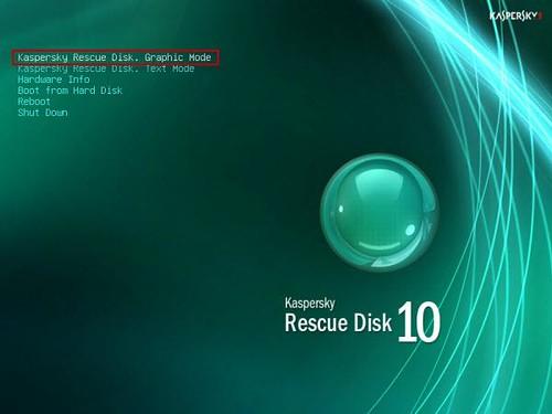 Kaspersky WindowUnlocker _ rescue disk graphic mode