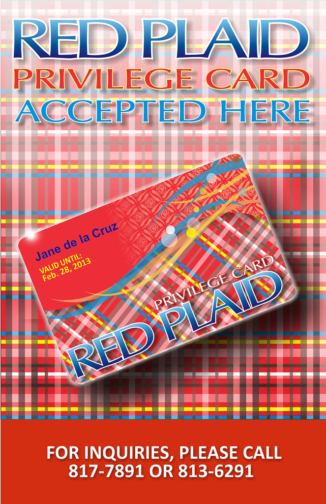 red plaid card