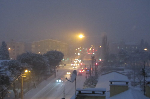 Winderwonderland Balikesir: cars are still moving