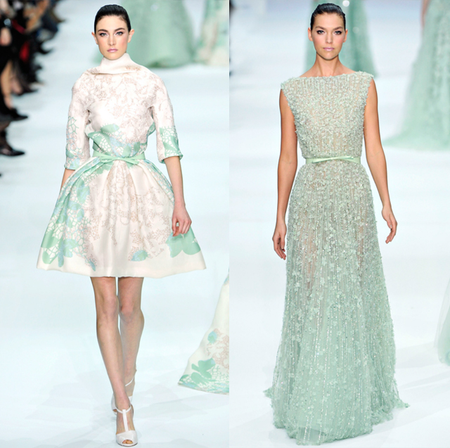 Elie Saab pastel dresses-Spring Couture 2012-mint