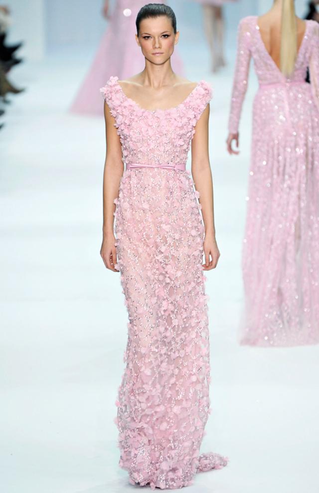 Elie Saab pastel dresses- Spring Couture 2012-pink