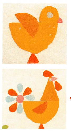 birds-potato prints