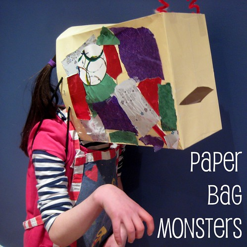 paper bag monster
