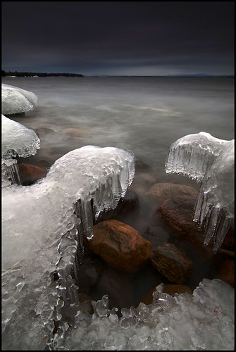 longexposure sunset lake ice landscape flickr vermont outdoor wideangle vt darkclouds lakechamplain northhero efs1022mmf3545usm singleimage borderfx dfine20