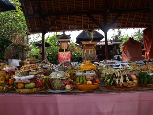 бали, храм, приношения