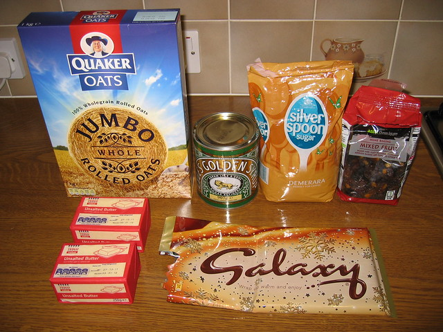 Ingredients for my awesome flapjacks