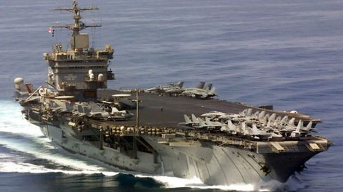 USS Enterprise, the Pentagon's oldest aircraft carrier, has been involved in simulated battle plans that appear to be directed against the Islamic Republic of Iran. The White House has been threatening Iran with sanctions and military attacks. by Pan-African News Wire File Photos