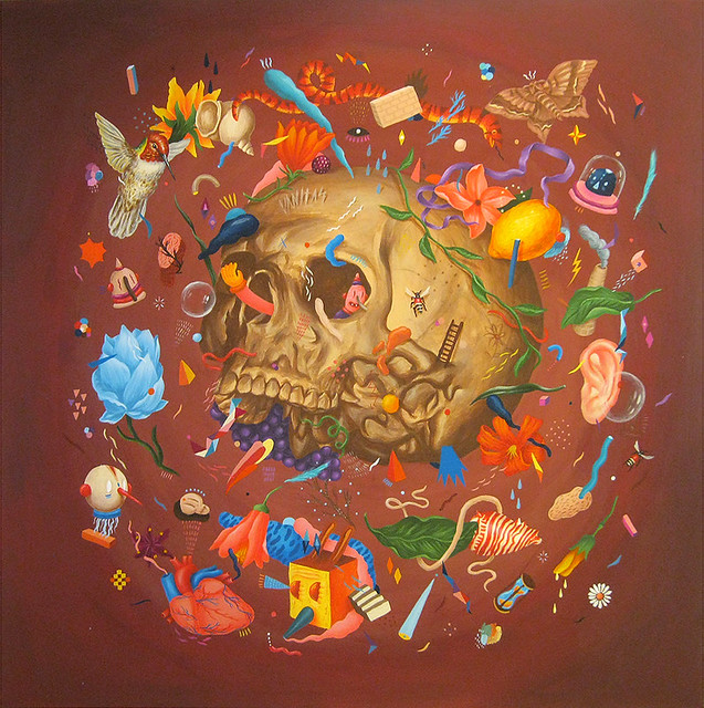 Skull painting by Saddo