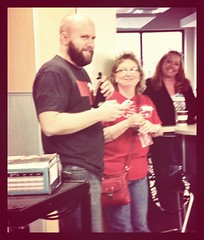 Josh Allen kicks off #edcampomaha! Smiles all around!