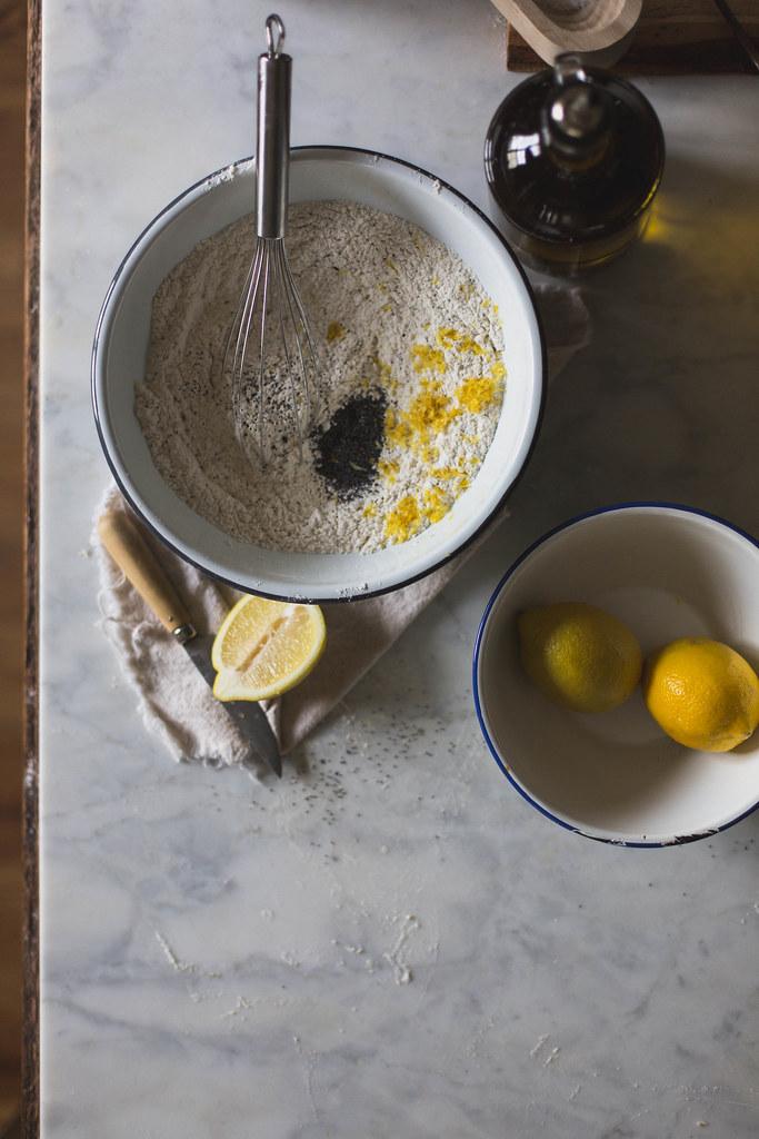 lemon, poppy seed, and olive oil shortbread