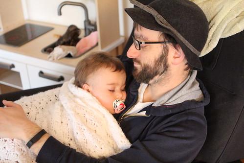 Sick Elliott with Daddy