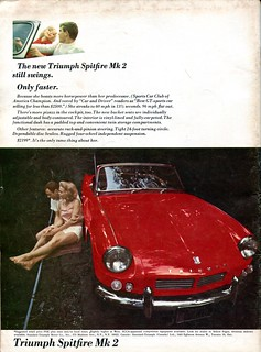 1965 Triumph Spitfire Mk 2 Advertisement Road & Track July 1965