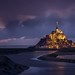 France - Mont Saint Michel by night by Toon E