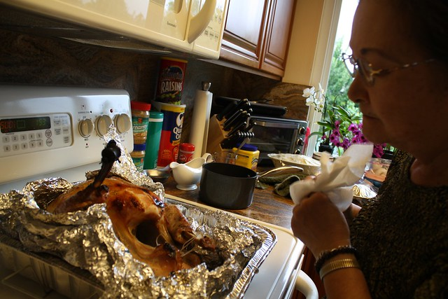A burnt turkey?