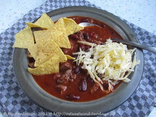 Chili con Carne mit Schwarzbier und Kakao 001
