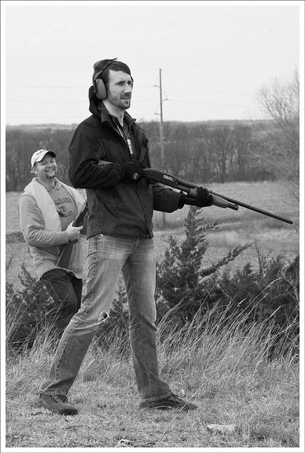 Skeet Shooting 2011-11-25 1 BW